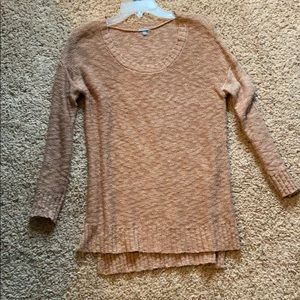 Brown/blush sweater